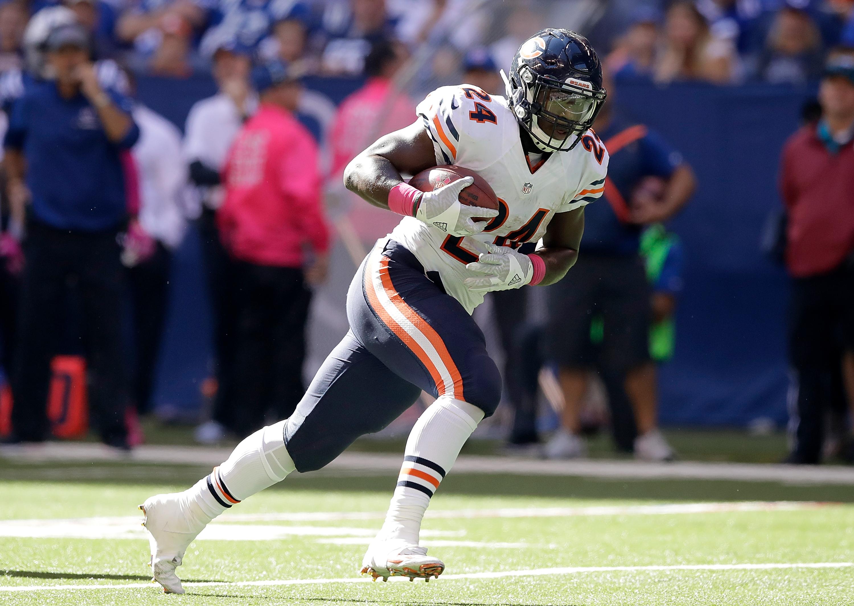 Chicago Bears Stat of the Day Jordan Howard Drops