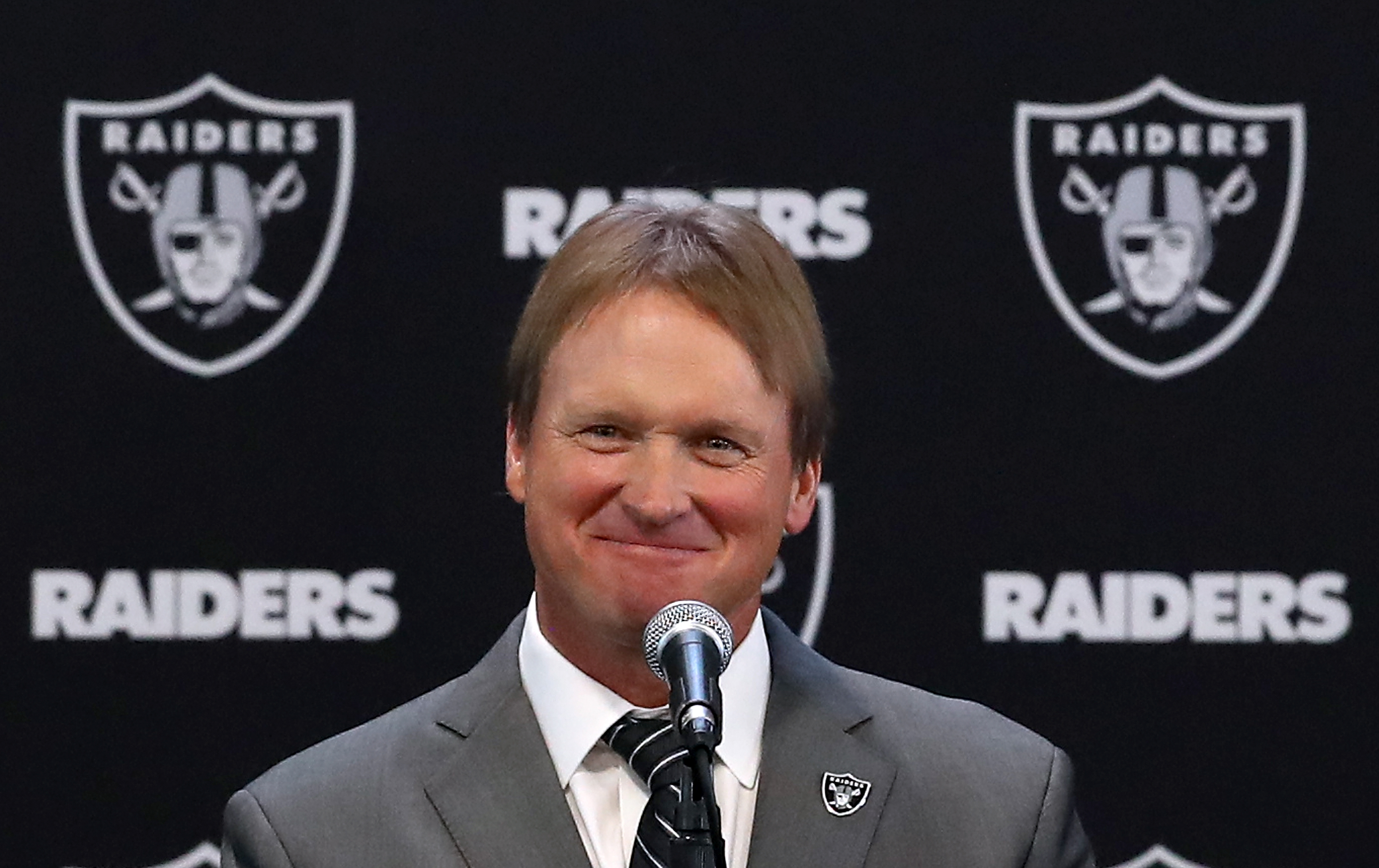 Raiders Officially Introduce Jon Gruden as Team's New Head Coach